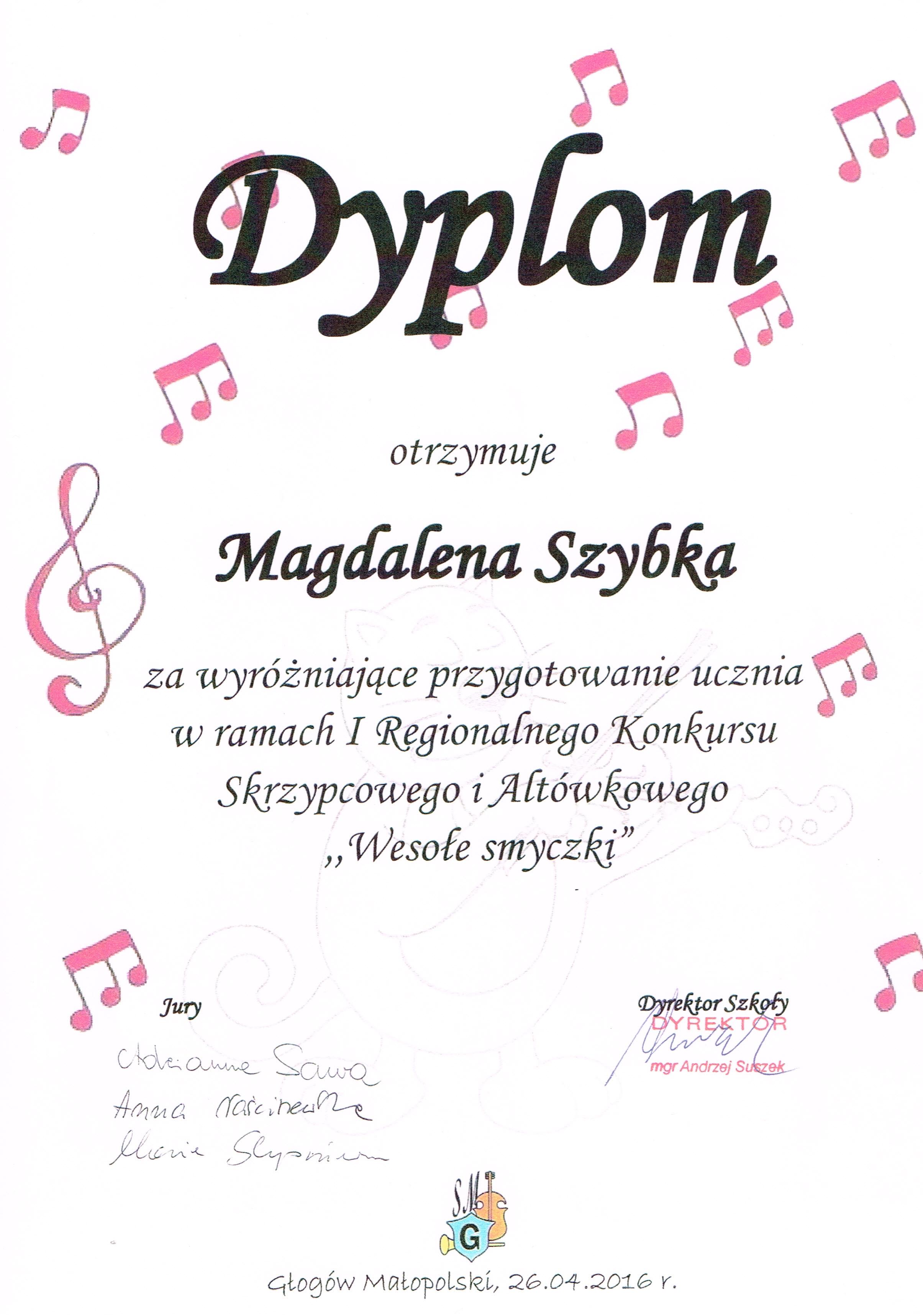 dyplom Magda