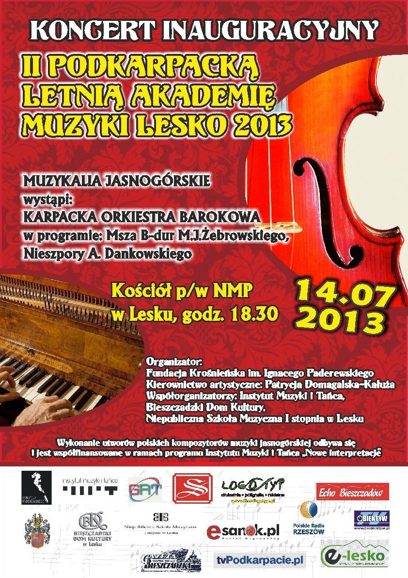 koncert inauguracyjny lesko 2013