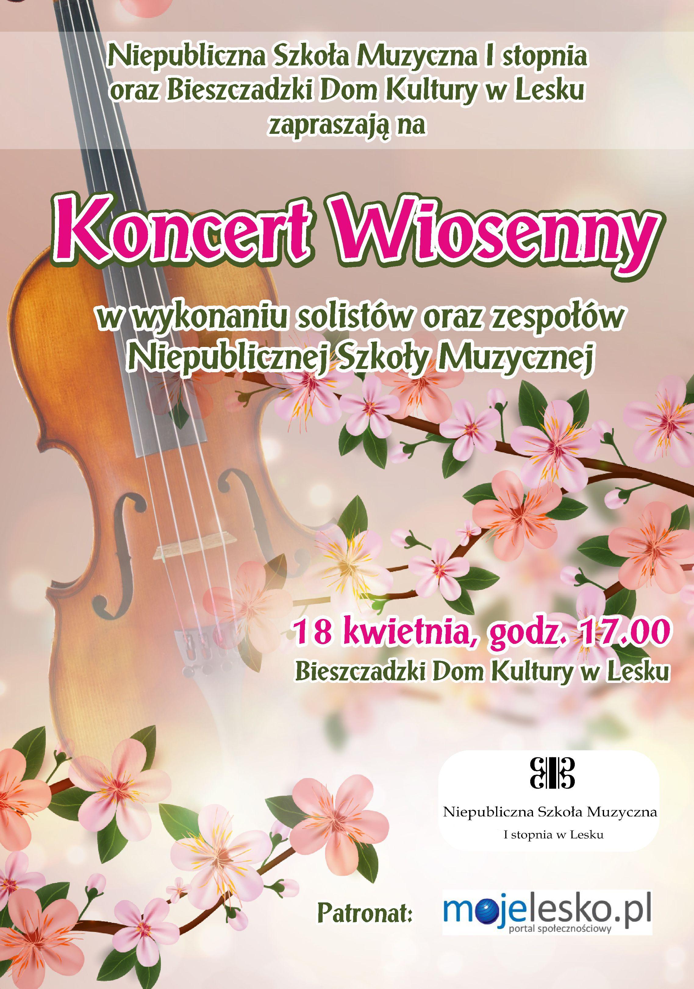 Szkola muzyczna plakat wiosna 2016