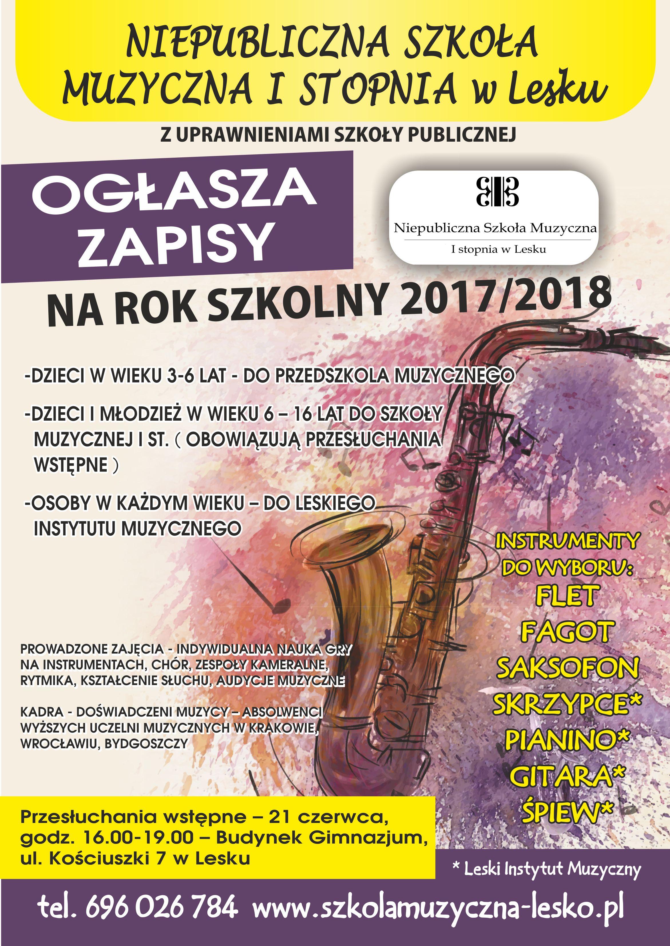 szkola muzyczna 2017 2018